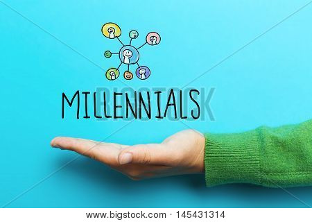 Millennials Concept With Hand