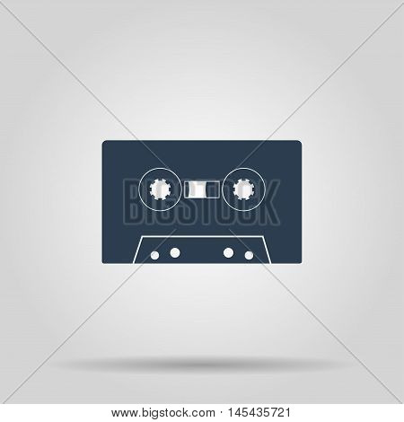 Cassette audio vector icon. Concept illustration for design.