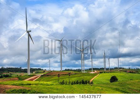 Wind-turbines Farm
