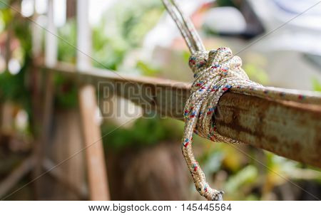 The rolling hitch is a knot rope tied to a streel