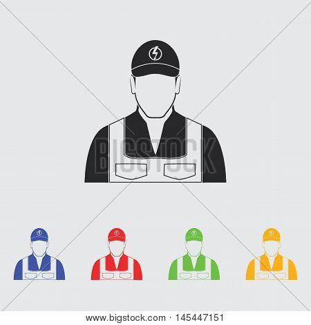 Electrician simple  vector icon for web and mobile