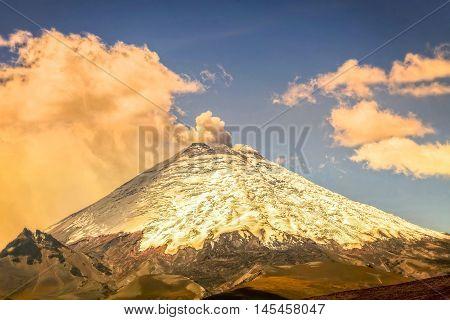 Eruption Of Ash Clouds From Cotopaxi Volcano Ecuador South America