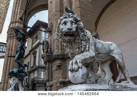 Medici Lionat The Loggia Dei Lanzi, Florence