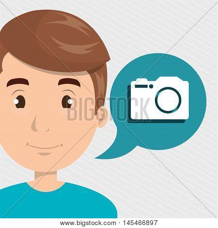 man camera photo images vector illustration eps 10