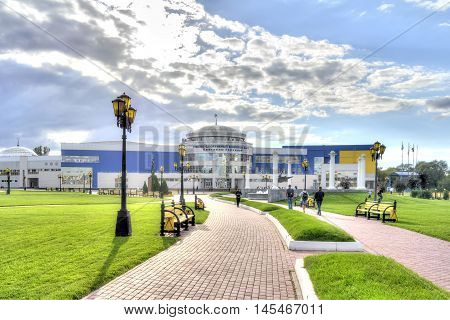 BELGOROD RUSSIA - August 31.2016: Training and Sports Complex S.Horkinoy. The structural unit of the Belgorod State University