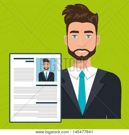 man cv find person vector illustration graphic
