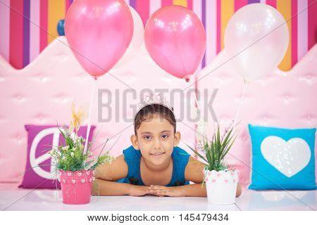 Smiling Bithday Girl