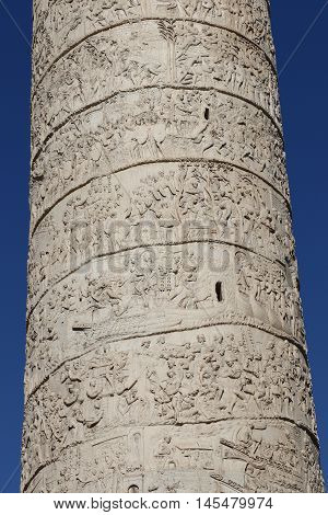 The Trajan's Column of the city of Rome