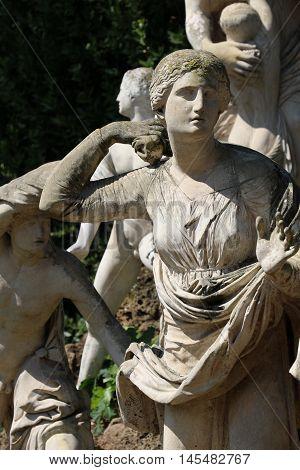 Statues of the square Niobides of the Villa Medici