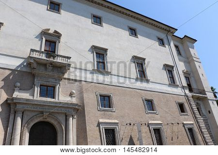 The villa Medici in the city of Rome