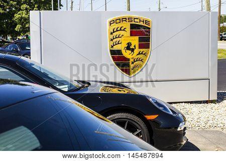 Indianapolis - Circa September 2016: Local Porsche Dealership Displaying a New 911. Porsche Racing Dates to the 1950s II
