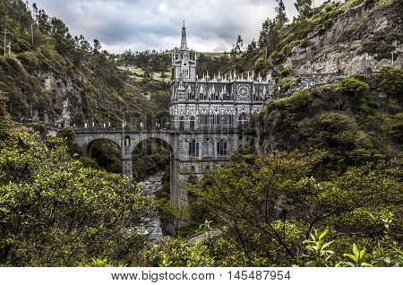 Sanctuary of Our Lady Las Lajas Colombia poster
