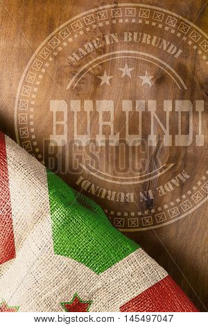 The poster for the industrial positioning of State of Burundi. Made in Burundi.