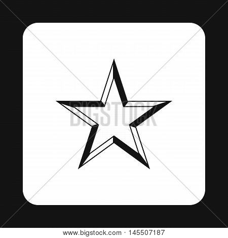 Geometric figure of celestial star icon in simple style isolated on white background. Figure symbol