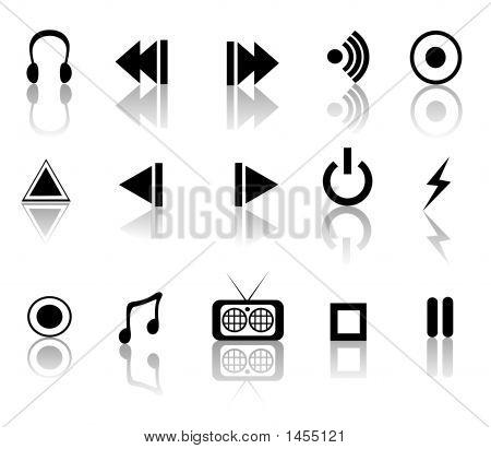 Black And White Media Set