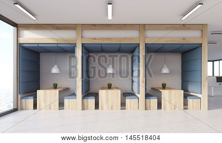 Dining Area With Blue Walls