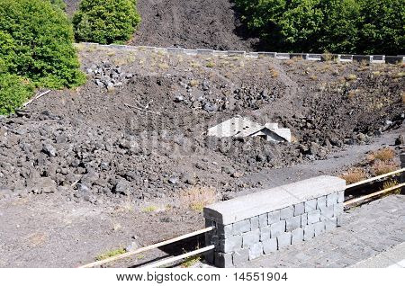 House Covered In Lava