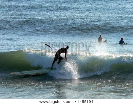 Surfing With Paddle