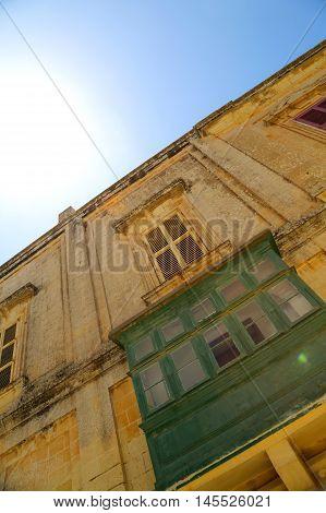 Historic Architecture in Ir-Rabat / Rabat in Malta southern Europe.