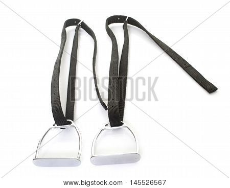 stirrup for child in front of white background