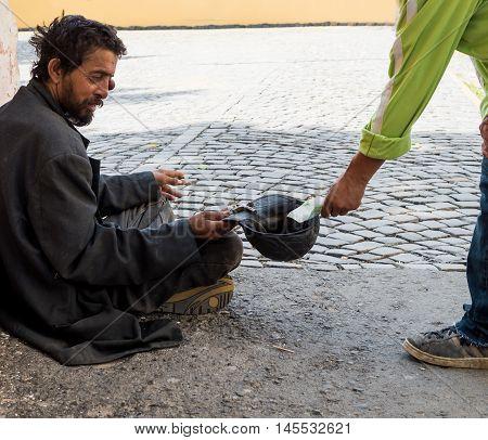 Homeless Dirty Man
