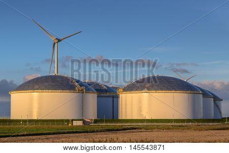 Giant Modern Oil Storage Tanks