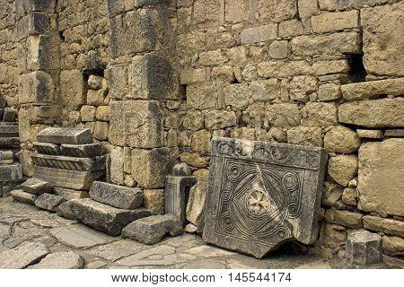fragment of antic relief Demre Myra, Turkey