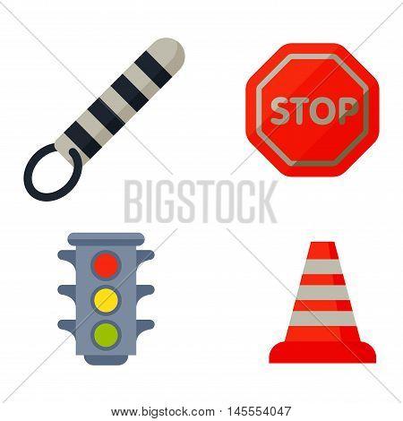 Auto transport motorist icons symbols and equipment auto transport symbols vector.
