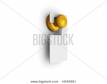 Door Knob With Do Not Disturb Label