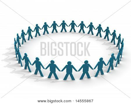 People In A Huge Circle