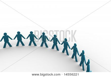 People Holding Hands In A Big Circle