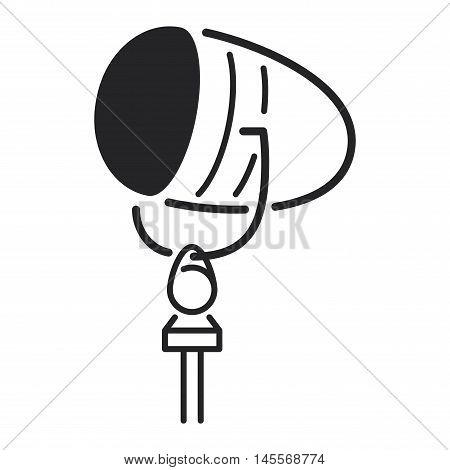 Different microphones types vector icons. Journalist microphone, interview , music studio. Web broadcasting microphone, vocal tool, tv show microphone.