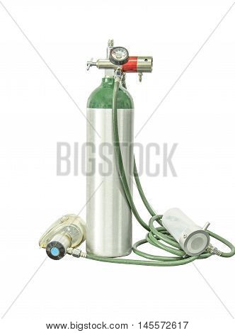medical oxygen cylinder portable add clipping path