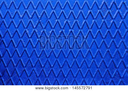 Blue non slip steel texture. Background of metal.