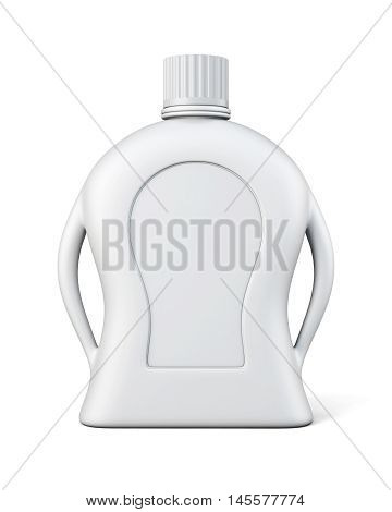 Bottle Of Detergent With A Blank Label. Front View. Cleaning Products Isolated On White Background.