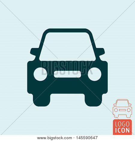 Car icon. Automobile front view symbol. Vector illustration