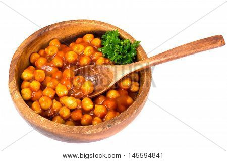 Nut in Sauce Harissa Studio Photo Isolated on White Background