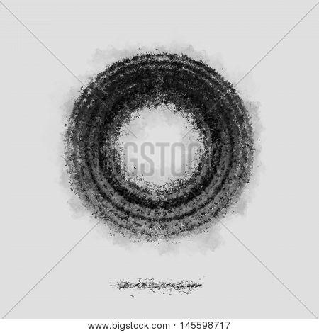 Ash Dark cirle symbol silhouette grey poster backdrop