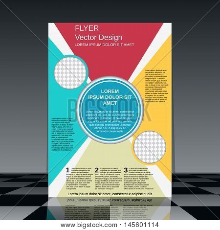 Professional business flyer with colorful elements vector design template