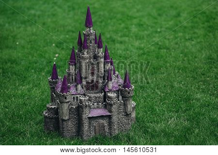 Beautiful medieval handmade castle. Made of papier-mache