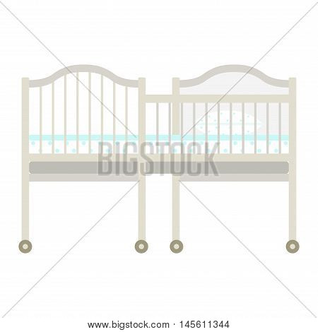 Vector kids bed icon interior home rest. Bed vector sleep furniture icon. Bed children vector house information bedtime modern service sleep furniture.