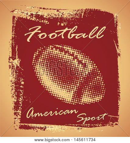 american football ball vector for T-shirt graphics and posters