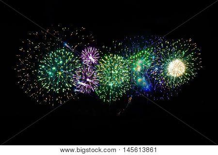 Amazing fireworks Festival in Bangkok Thailand year