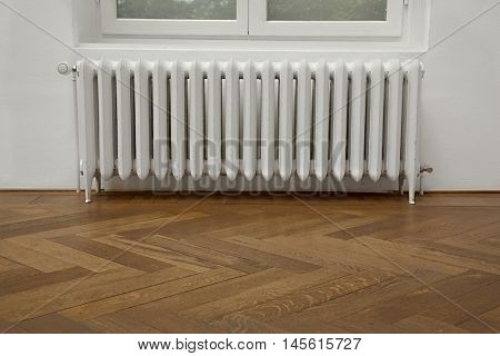 Closeup of a heating radiator