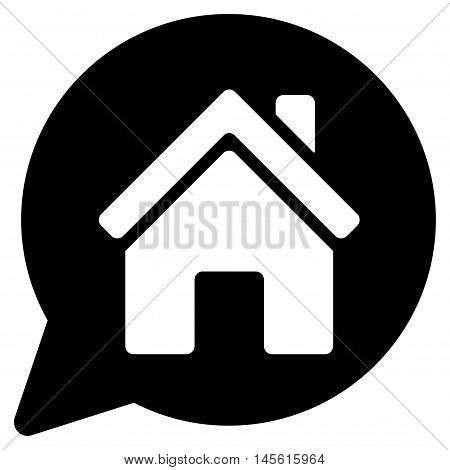 House Mention icon. Vector style is flat iconic symbol, black color, white background.