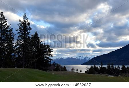 Lake Wakatipu from Kelvin Heights in winter.