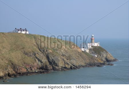 Lighthouse at Howth bay in Dublin Ireland poster