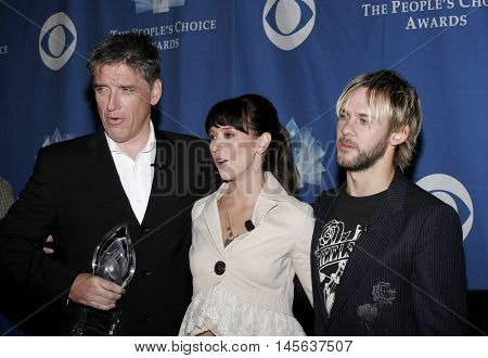 Craig Ferguson, Jennifer Love Hewitt and Dominic Monaghan at the 32nd Annual People's Choice Awards Nominations held at the Hollywood Roosevelt Hotel in Hollywood, USA on November 10, 2005.
