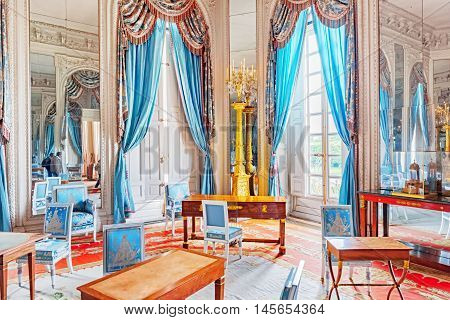 Versailles, France - July 02, 2016 : Apartments In The Grand Trianon.salon Ice Lounge(salon Des Glac