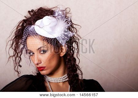 Beautiful ethnic woman fashion shot in studio